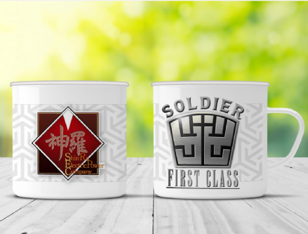 Shinra Soldier First Class Final Fantasy VII Inspired Enamel Camp Mug